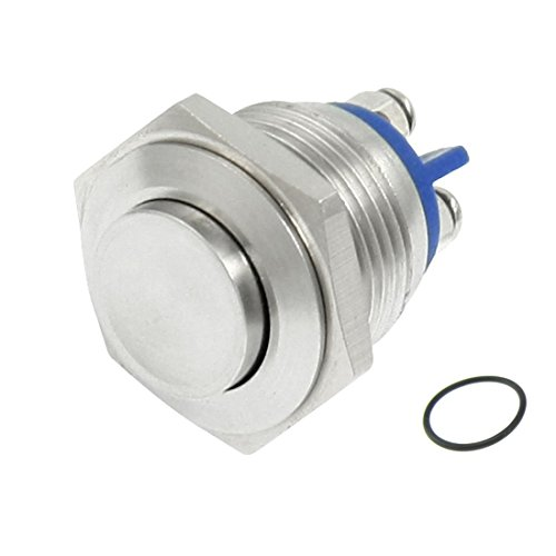Yakamoz 12mm 1//2 Black Shell Metal Self-locking Latching Push Button Switch 2A//36V DC SPST 1NO Industrial Boat Car Switch