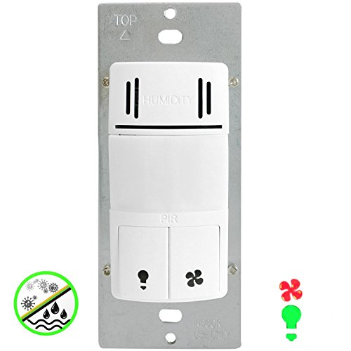 Enerlites Dwhos 2 In 1 Humidity Motion Sensor Switch To