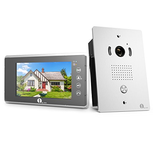 1byone Video Doorphone 2 Wires Video Intercom System 7 Inch Color