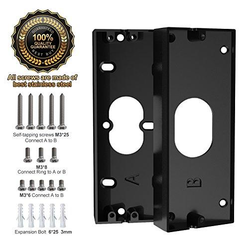 Zinc Alloy Doorbell Angle Adjustment Adapter, Braket For Ring Video  Doorbelldoorbell Not Included, Stand For Ring Doorbell Pro, With 18 Pcs  Mount Kit ...