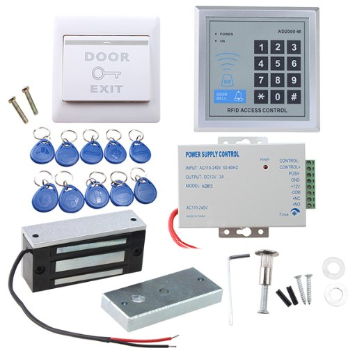 Door Access Control System Agptek Rfid Home Security Kit With 280kg