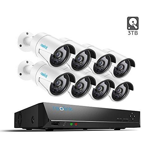 Reolink IP PoE Security Camera 4 Megapixels Super HD 2560×1440 Audio