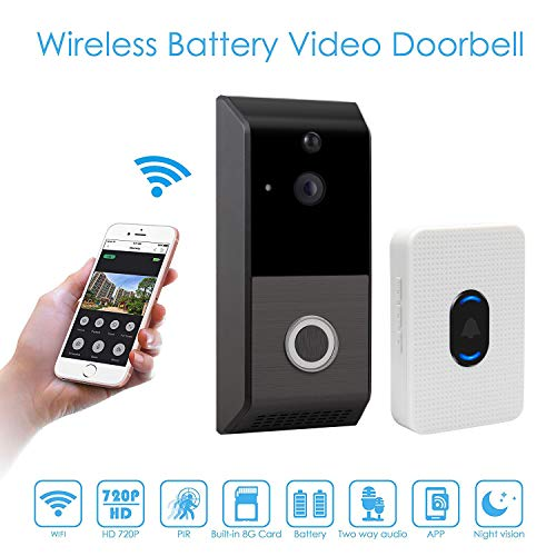 Viewzone Wireless Video Doorbell, 720P HD WIFI Smart Home Doorbell