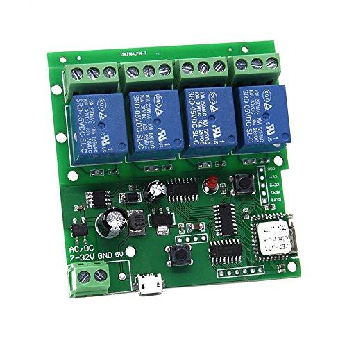 DIY 5V 12V Inching/Self-locking Wifi Switch Module 12